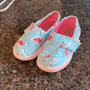 TOMS TODDLER FLAMINGO SHOES
